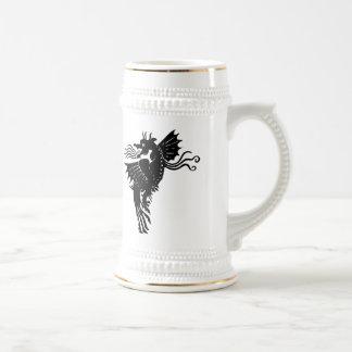 Dragón de respiración del fuego taza