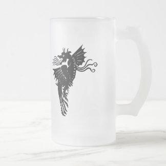 Dragón de respiración del fuego taza de cristal