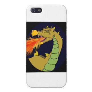 Dragón de respiración del fuego verde iPhone 5 protectores