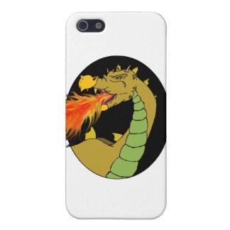Dragón de respiración del fuego verde iPhone 5 funda