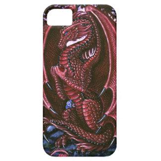 Dragón de rubíes BarelyThere iPhone 5 Carcasas