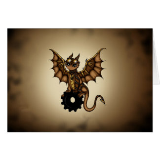 Dragón de Steampunk Tarjeta De Felicitación