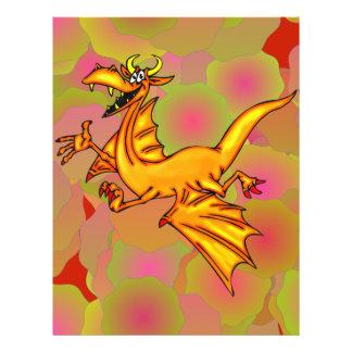 """Dragón de vuelo folleto 8.5"""" x 11"""""""