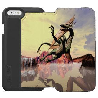 Dragón de vuelo impresionante funda billetera para iPhone 6 watson