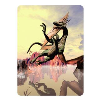 """Dragón de vuelo impresionante invitación 5.5"""" x 7.5"""""""
