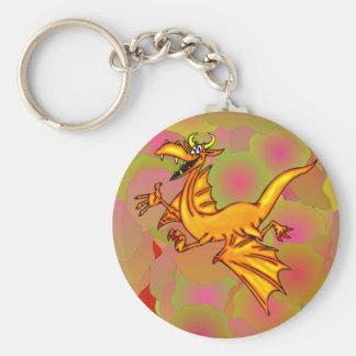 Dragón de vuelo llavero redondo tipo pin