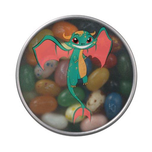 Dragón de vuelo mítico de la mueca enorme jarrones de dulces