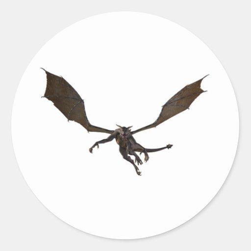 Dragón de vuelo pegatina redonda