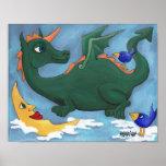 Dragón de vuelo posters