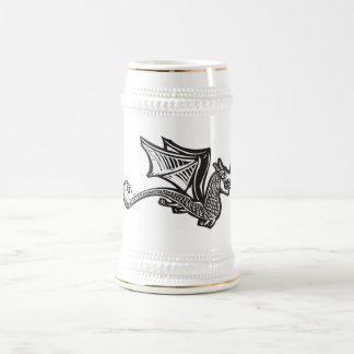 Dragón de vuelo solo jarra de cerveza