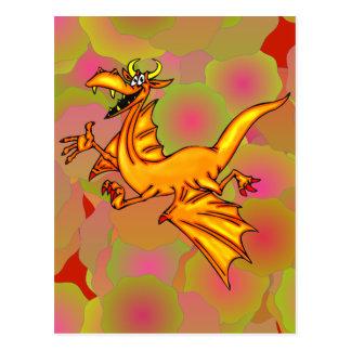 Dragón de vuelo tarjetas postales
