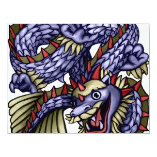 Dragón de Yakeagle Invitación 10,8 X 13,9 Cm