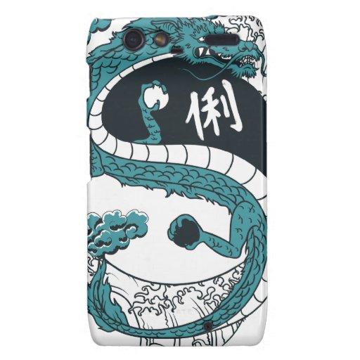 Dragón de Yin y de Yang Motorola Droid RAZR Fundas