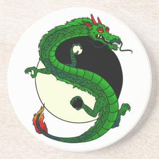 Dragón de Yin Yang Posavasos De Arenisca