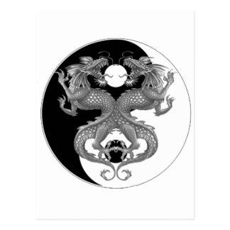 Dragón de Yin Yang Postal