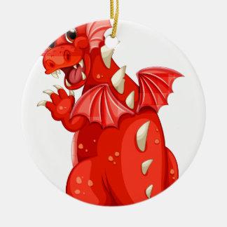 Dragón Adorno Redondo De Cerámica
