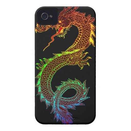 Dragón del arco iris iPhone 4 carcasas