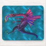 Dragón del arco iris tapete de raton