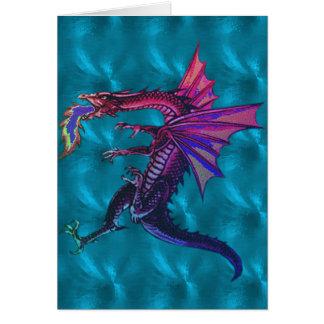 Dragón del arco iris tarjeta pequeña