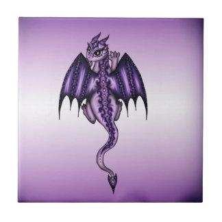 Dragón del arte azulejo cuadrado pequeño