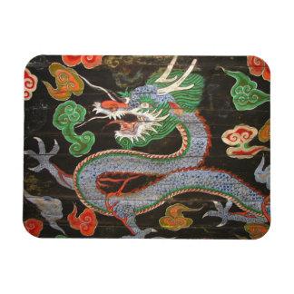Dragón del asiático de sudcoreano Seul Namdaemun Rectangle Magnet