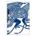 Dragón del azul de Knotwork Tableros Blancos
