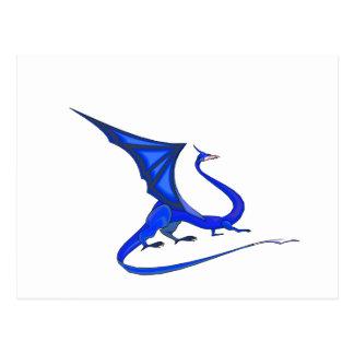 Dragón del azul de la fantasía postal