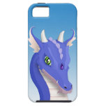 Dragón del azul de la pizarra iPhone 5 Case-Mate cobertura