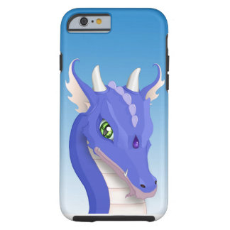 Dragón del azul de la pizarra funda de iPhone 6 tough