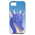 Dragón del azul de la pizarra iPhone 5 fundas