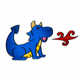 Dragón del azul de Zuzu Fotoescultura Vertical