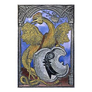 Dragón del basilisco de Venecia Impresiones Fotograficas
