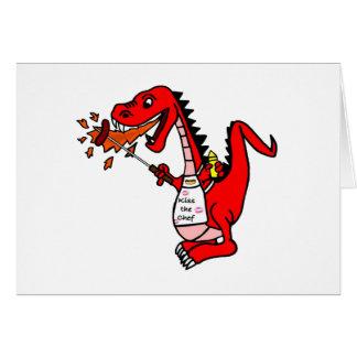 Dragón del Bbq Tarjeta De Felicitación