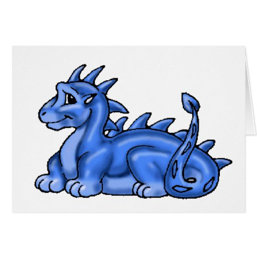 Dragón del bebé azul tarjeta