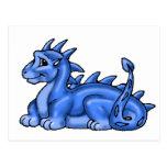Dragón del bebé azul tarjetas postales
