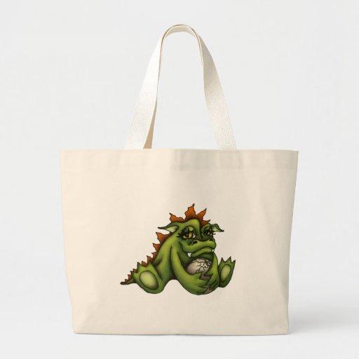 Dragón del bebé bolsas lienzo