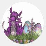 Dragón del bebé de la sorpresa de Pascua Etiquetas