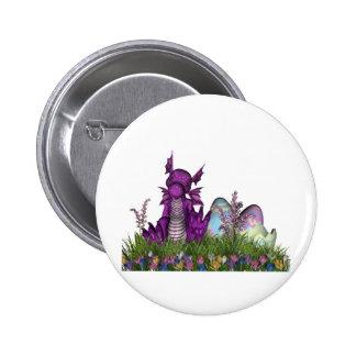 Dragón del bebé de la sorpresa de Pascua Pin Redondo De 2 Pulgadas