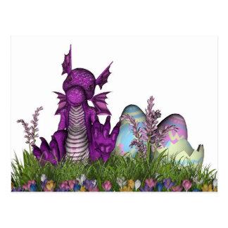 Dragón del bebé de la sorpresa de Pascua Postal