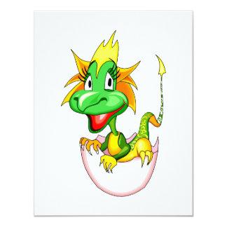 """Dragón del bebé en el huevo graphic.png invitación 4.25"""" x 5.5"""""""