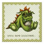 Dragón del bebé invitación personalizada