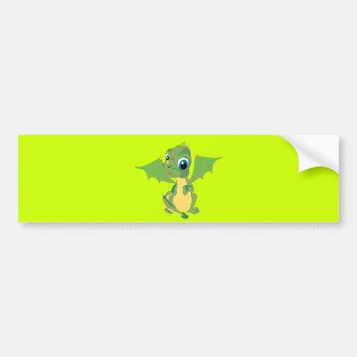 Dragón del bebé pegatina de parachoque