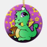 Dragón del bebé que chupa el ornamento del pulgar ornamente de reyes