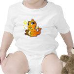 Dragón del bebé que chupa su pulgar - naranja camisetas