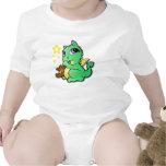 Dragón del bebé que chupa su pulgar - verde camisetas