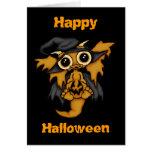 Dragón del bebé - tarjeta del feliz Halloween