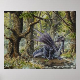 Dragón del bosque - por Marc-André Huot Póster