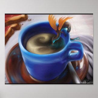 Dragón del café impresiones