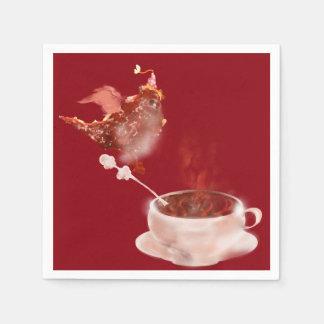 Dragón del café servilleta de papel