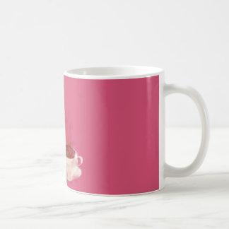 Dragón del café taza básica blanca